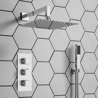 Archie Concealed Shower Valve, Fixed Shower Head & Handset